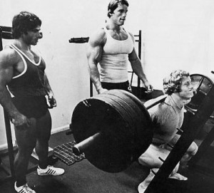 Arnold teaching the squat