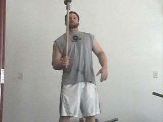 holding a hammer vertical