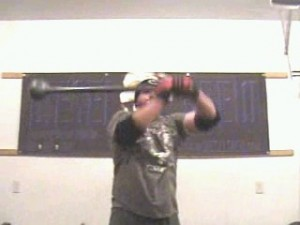 Pulling the Mace Back over the Right Shoulder