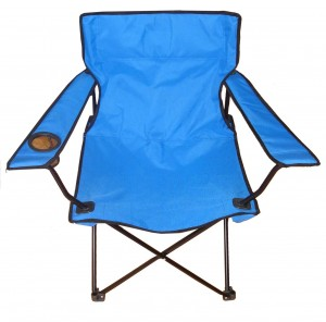 Foldable Lawn Chair with a Slot for Your Protein Shake