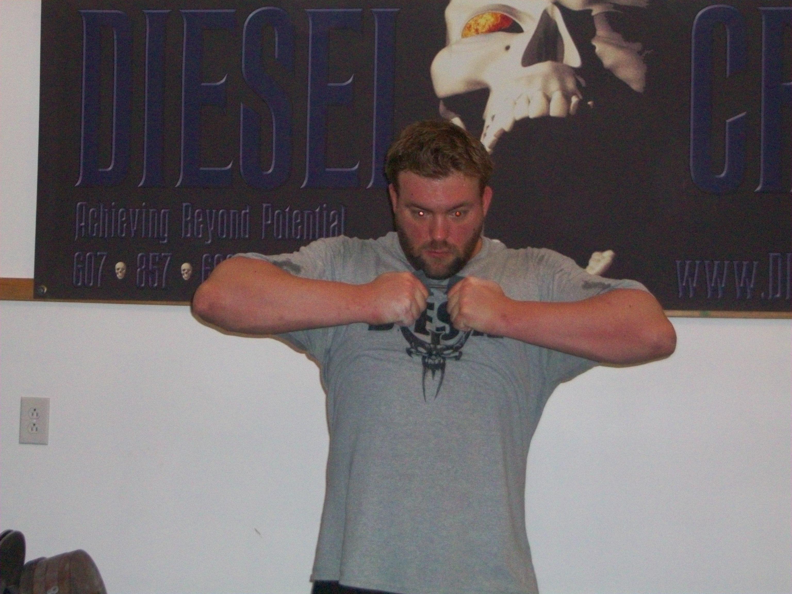 double-overhand-nail-bending - Diesel Crew - Muscle Building