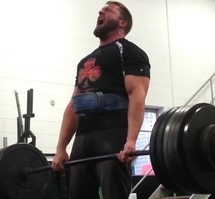 Deadlift 550 lbs Club Crossfit WOD Workout Lifting Powerlifting Training Grey