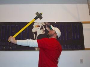 sledge hammer training for nail bending strength
