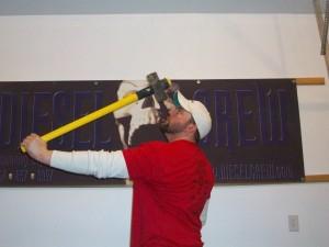 sledge hammer training for increased wrist strength for bending
