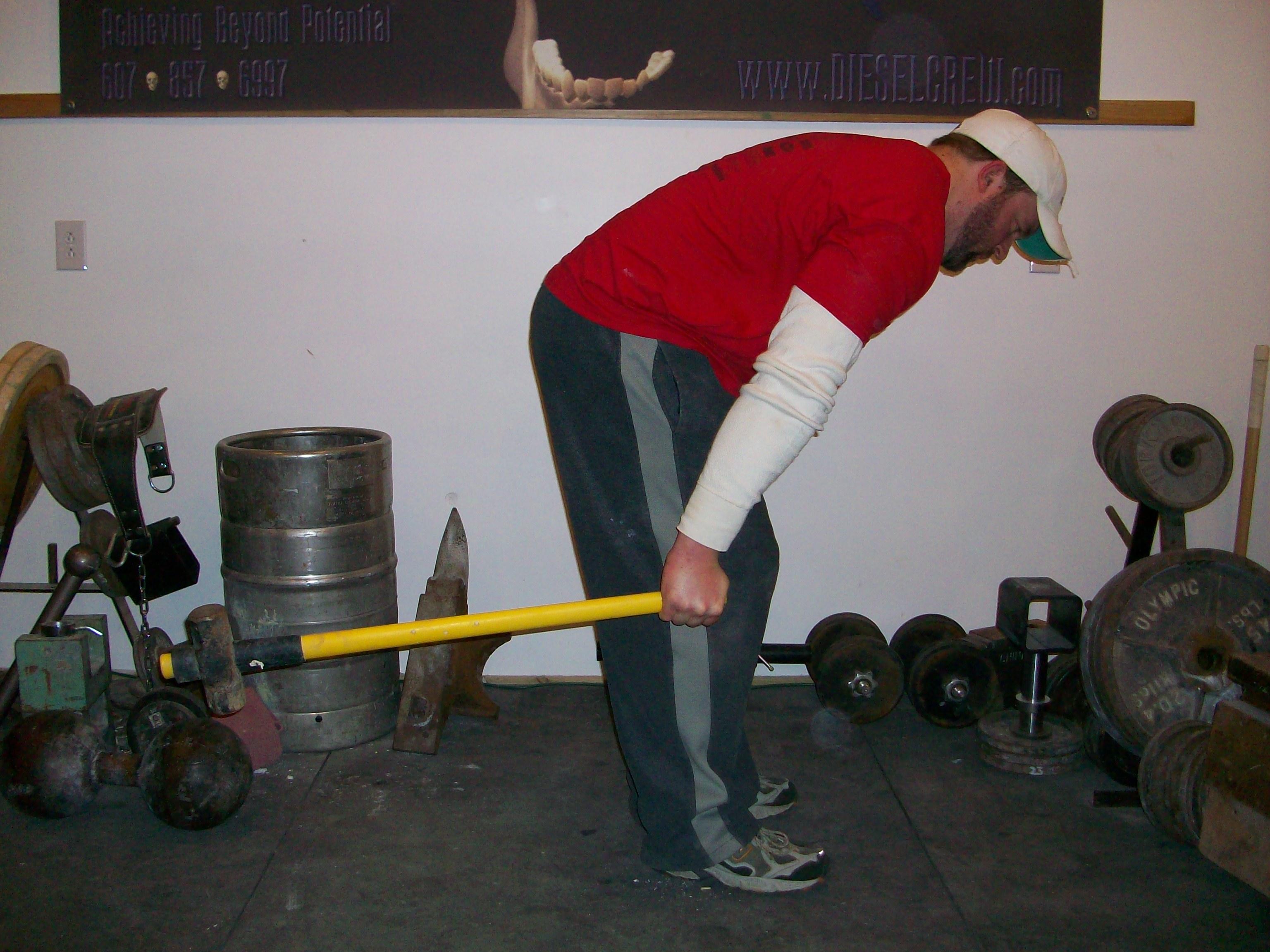 partial hammer deadlift for building bending strength