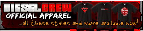 diesel crew tee shirt banner